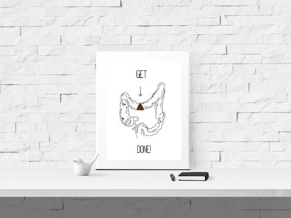 Get Shit Done Print   Funny Office Decor   Cubicle Decor   Office Wall Art
