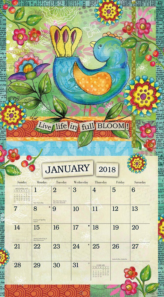 Amazonsmile Lang 2018 Wall Calendar Quot Color My