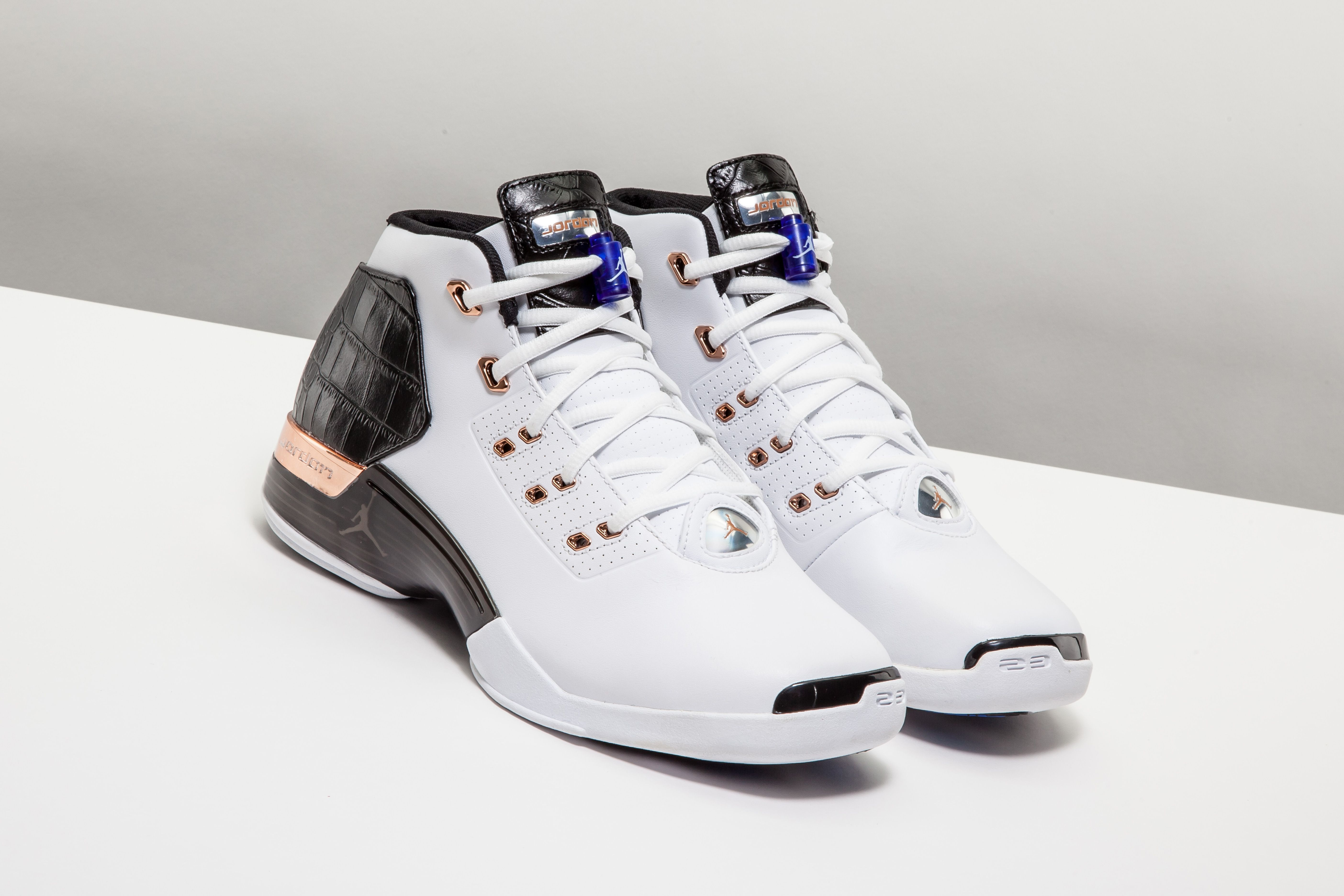 low priced 39658 89e31 The faux croc embossed Air Jordan 17 + Retro brings a luxe look to an unsung