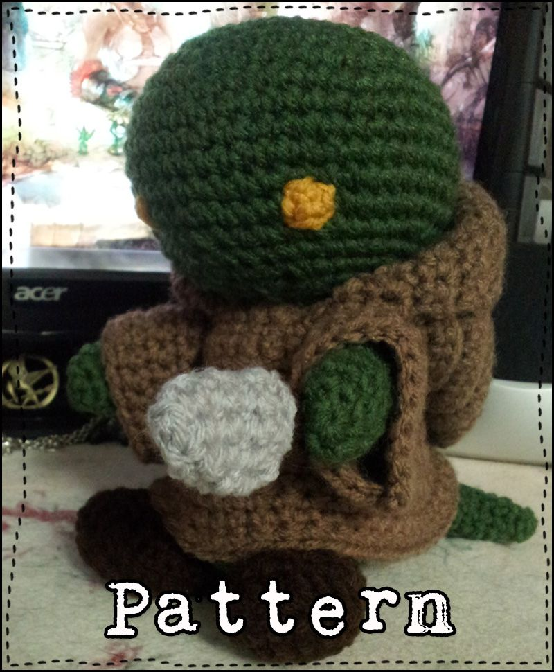 A free crochet pattern for a Final Fantasy Tonberry amigurumi that ...