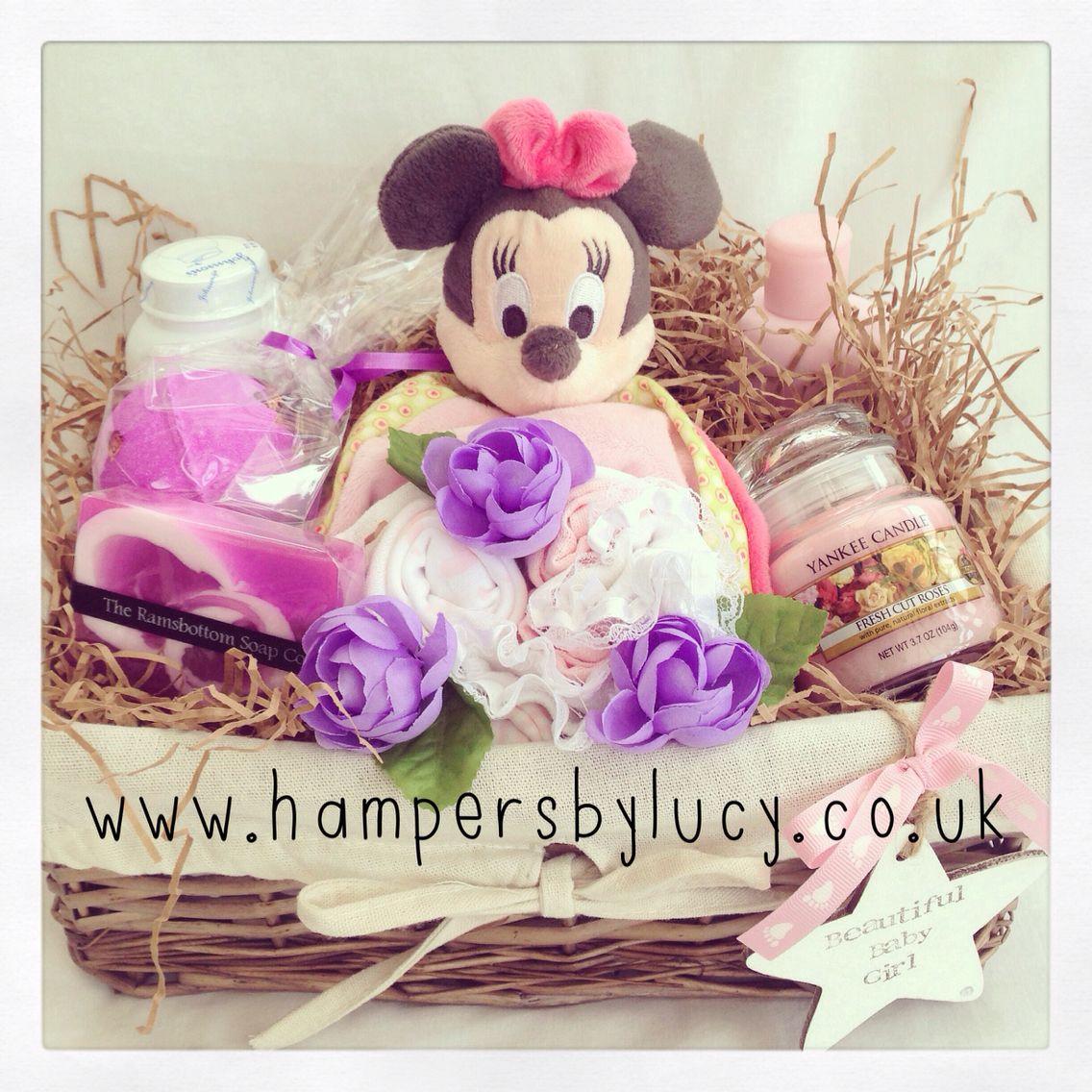 Minnie's Baby Girl Hamper imagens) Kit bebê mdf