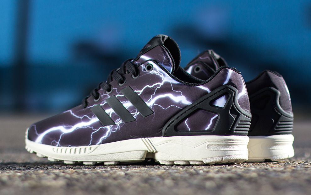 Black Adidas Zx Flux Lightening Elemensts Pack Running Shoes To Own