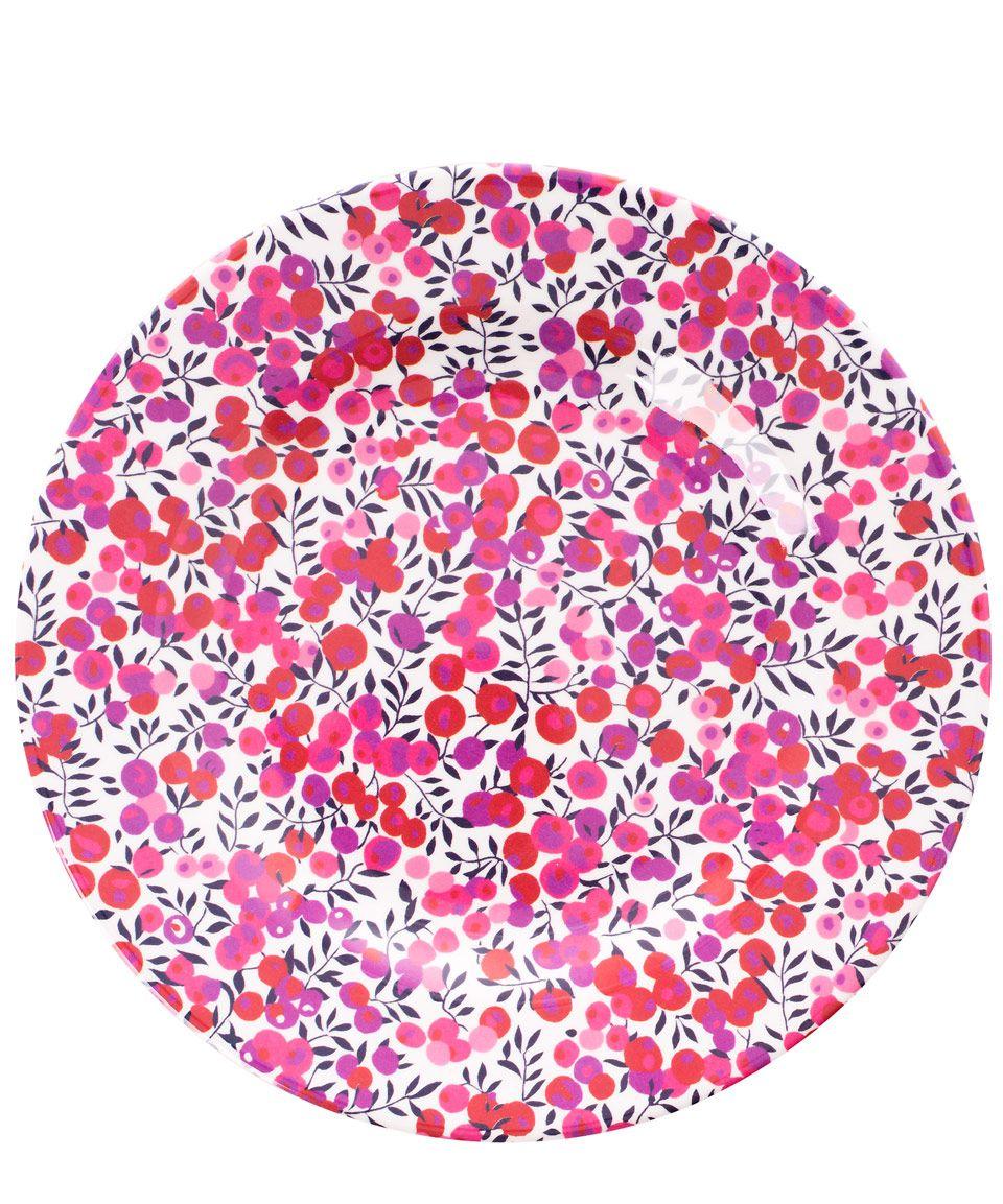 Flowers of Liberty Liberty Print Melamine Side Plate | Home | Liberty.co.uk