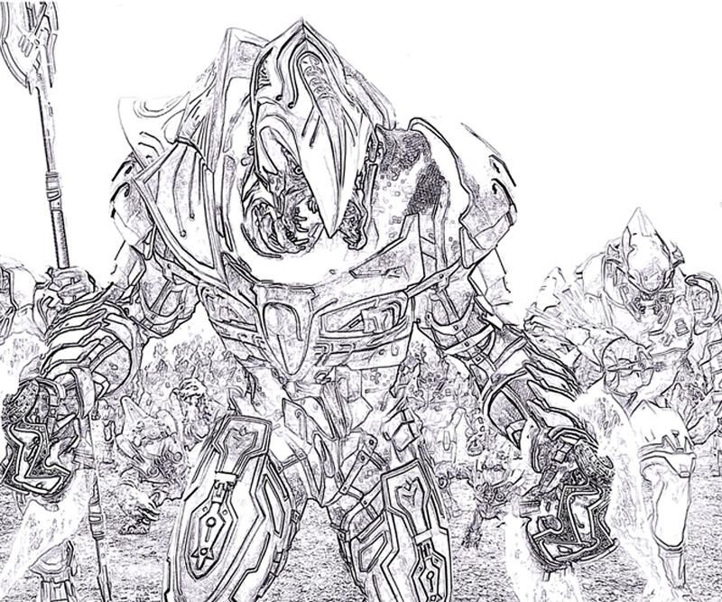 Halo Coloring Pages Characters