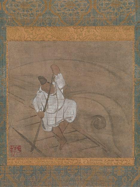Ogata Kōrin Boatman Poling A Raft Japan Edo Period 1615 1868 The Met Boat Art Korean Art Japanese Art