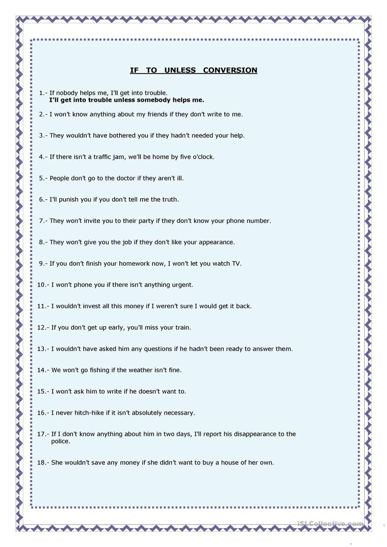 Conditional Clauses Worksheet Free Esl Printable Worksheets Made By Teachers Clause Grammar Worksheets Worksheet Template