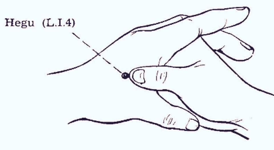 #Acupressure point #Li4 also stands for Large intestine 4 ...