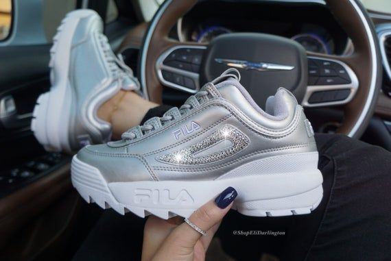 Bling Nike Air Max Thea Shoes with Classic Silver Swarovski