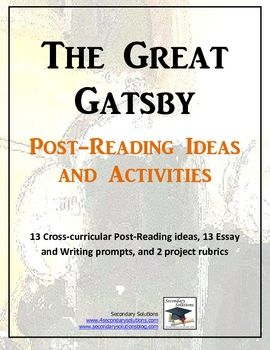 Secondary Solutions Post Reading Activities Writing Words Rubrics For Projects
