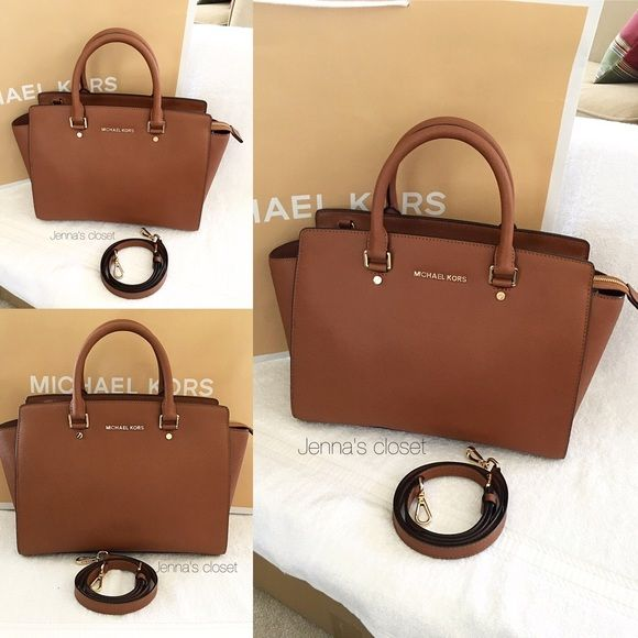 Michael Kors Selma Large Satchel Pre Loved Purse In The Color Luggage It Is Also Size Which Discontinued And Hard To Find