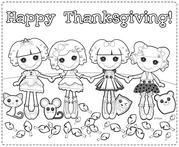 Thanksgiving Coloring Pages | Lalaloopsy, Thanksgiving and Crafts