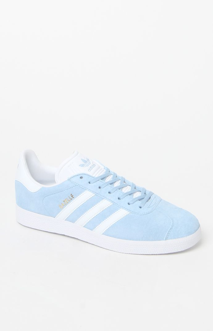 Gazelle Light Blue Shoes | Light blue shoes, Blue adidas ...