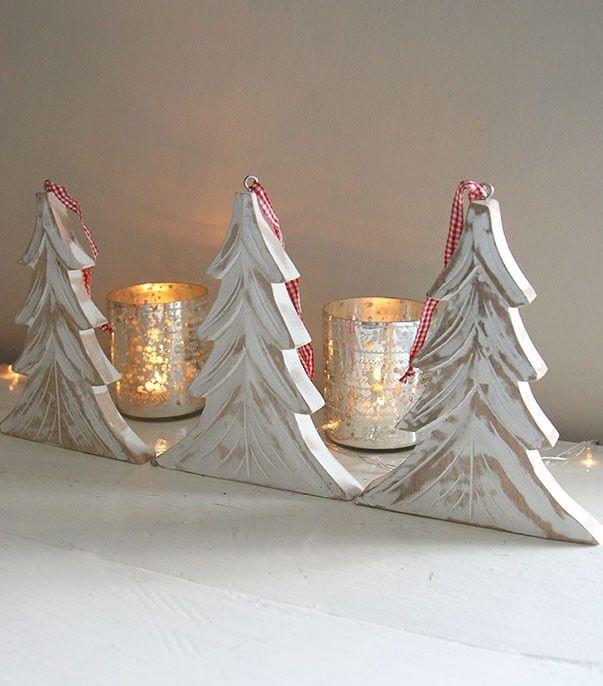 fotos de adornos navideos de madera