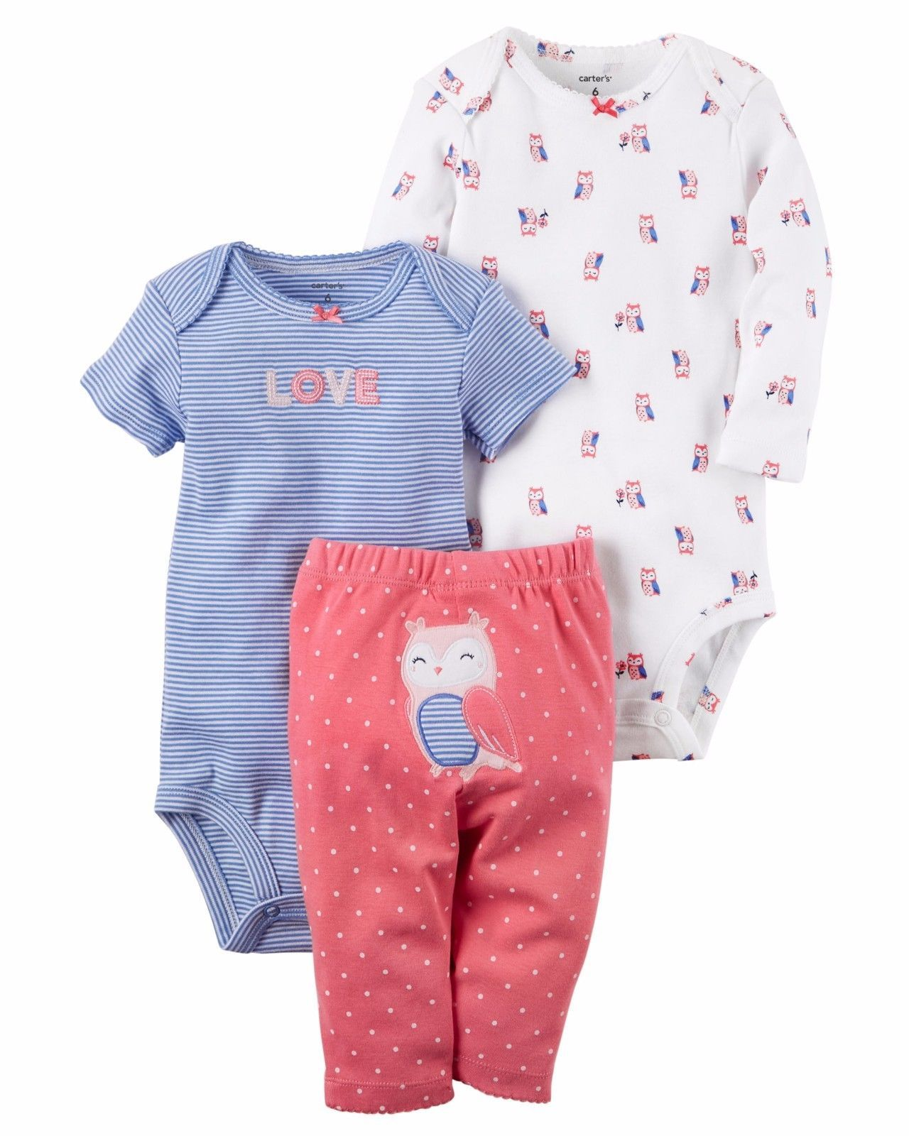 e5ec5e2d0 Other Baby and Toddler Clothing 1070: New Nwt Girls Carter S Preemie  Premature 3 Piece Owl Love Set -> BUY IT NOW ONLY: $14.99 on #eBay #other  #toddler ...