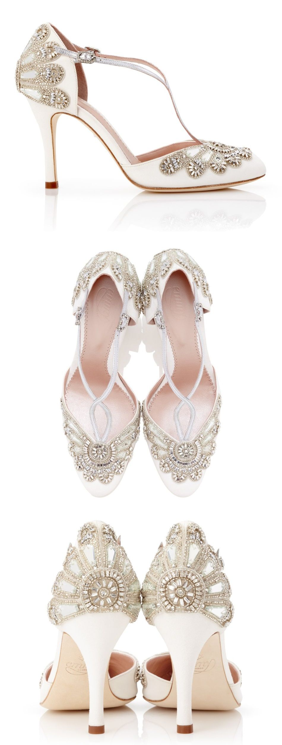 Cecile Ivory Satin Wedding Shoes Bridal Shoes Bridal Shoes Vintage