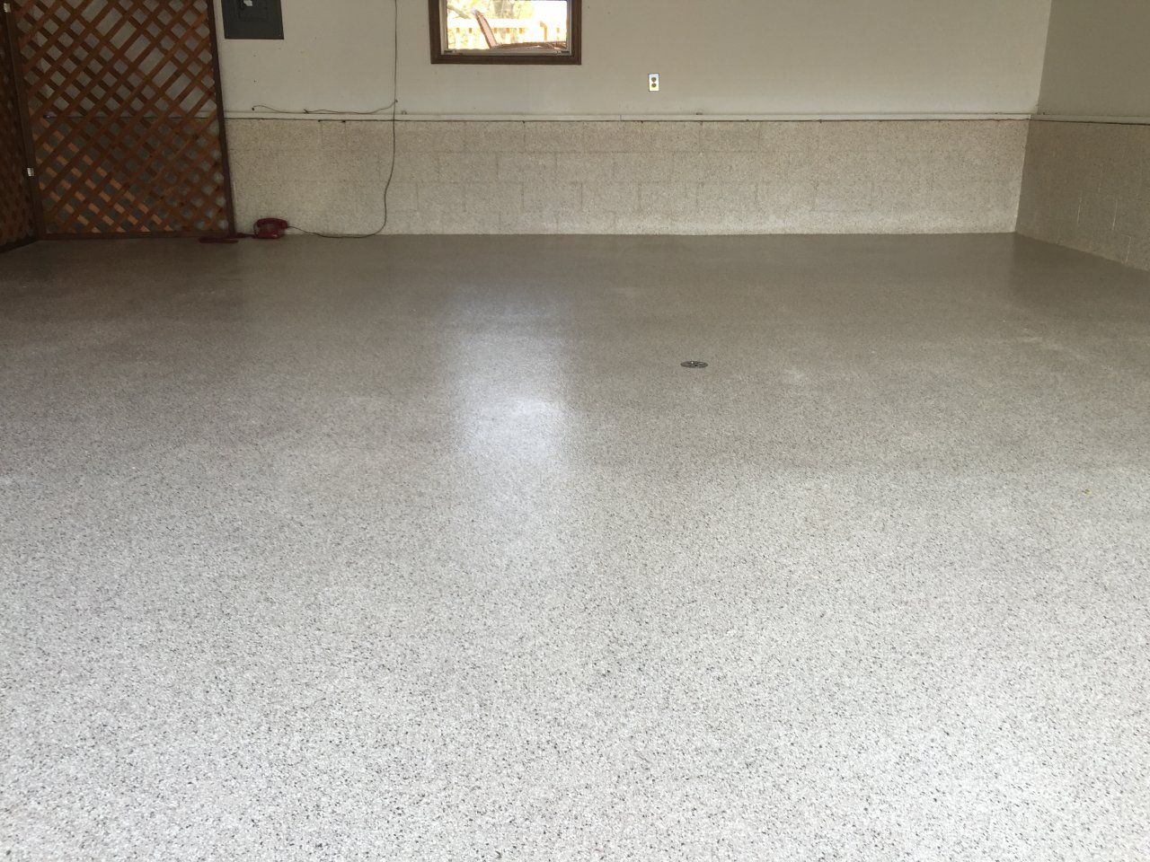 Decorative And Durable Epoxy Flake Garage Flooring In Clinton