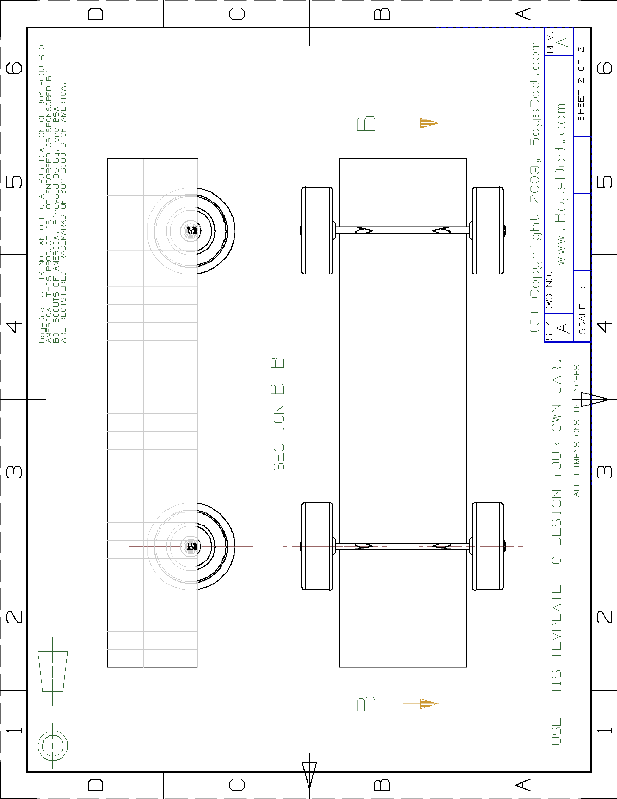 Blank Car Derby Template PDF Format Download | pinewood derby ...