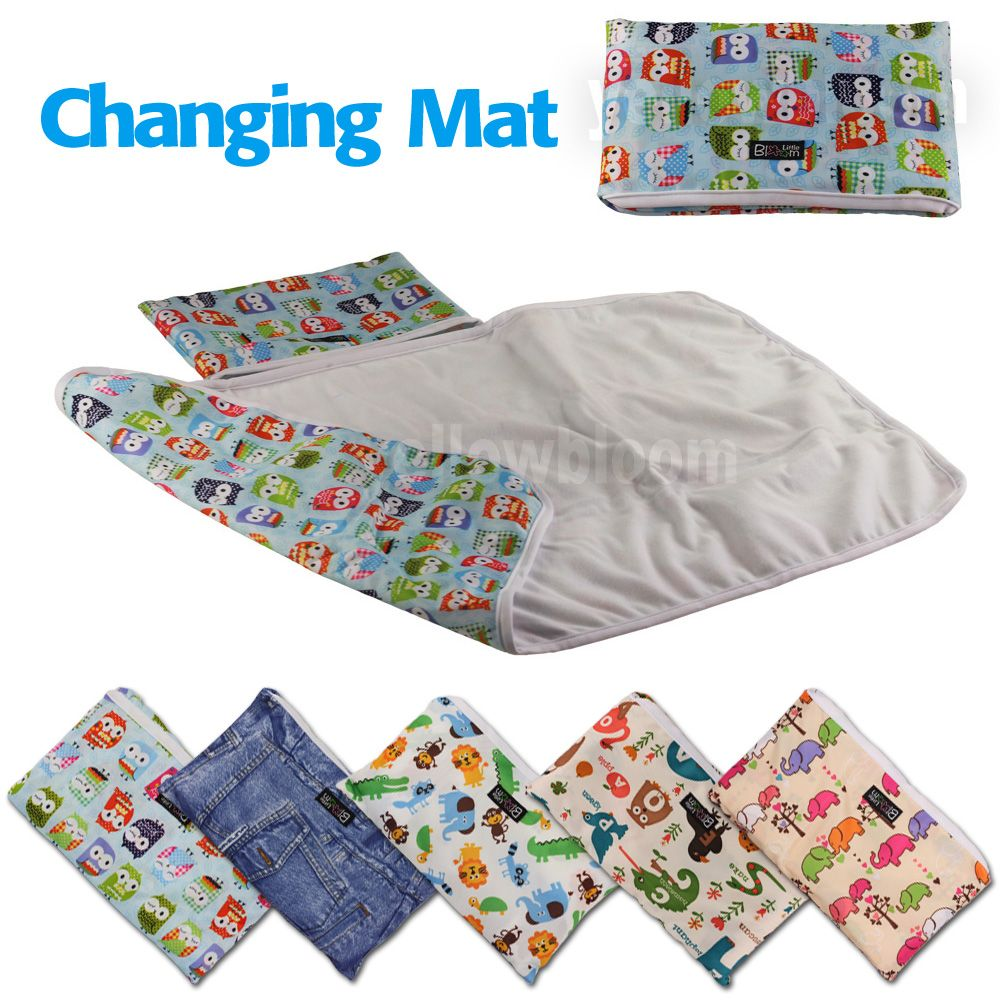 SODIAL Baby Portable Foldable Washable Compact Travel Nappy Diaper Changing Mat Waterproof Baby Floor Mat Change Play Mat Baby Care Gray