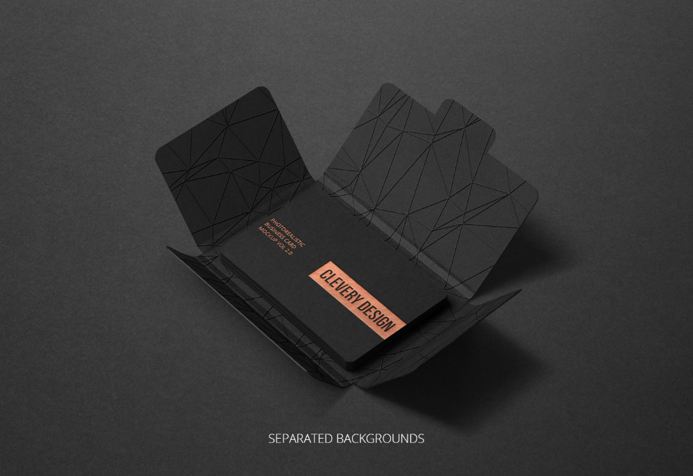 Photorealistic Business Card Mockup Round Corners 2 0 On Behance Business Card Mock Up Cards Business Cards