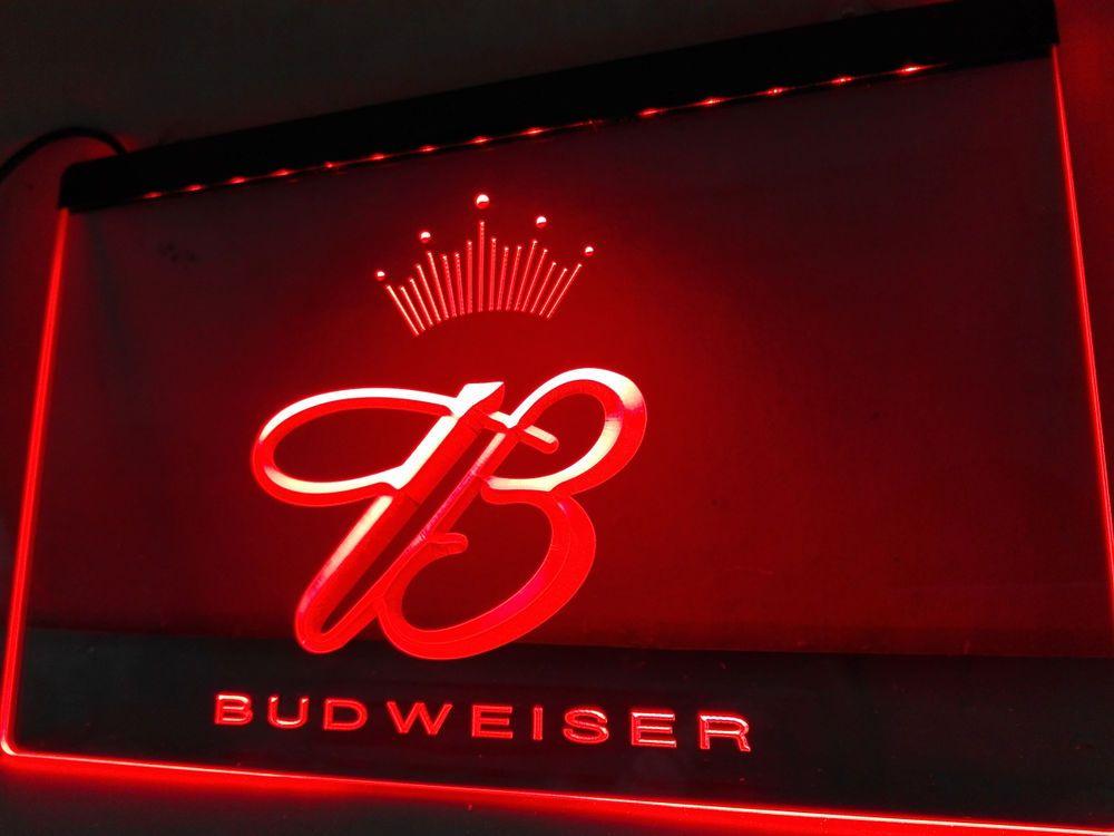 Budweiser King Beer Bar Pub Club LED Neon Light Sign