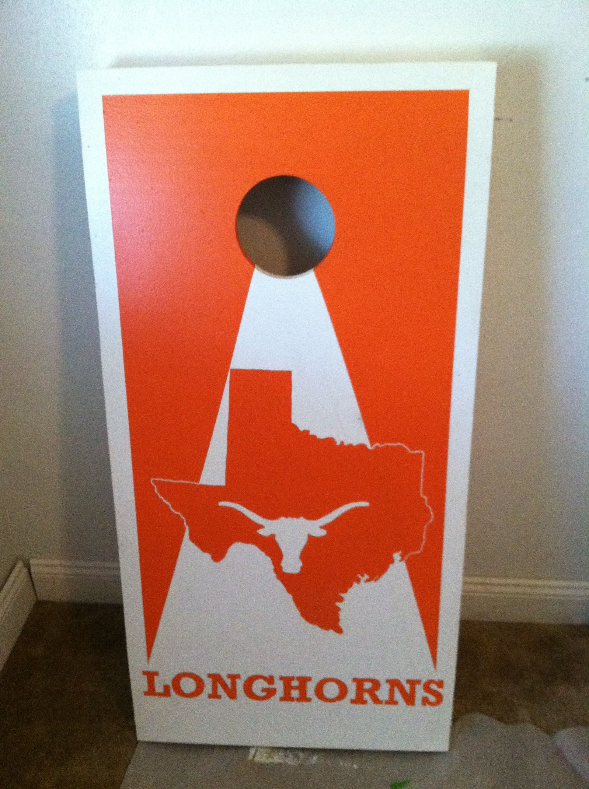 Texas Longhorns Cornhole Board Cornhole Boards