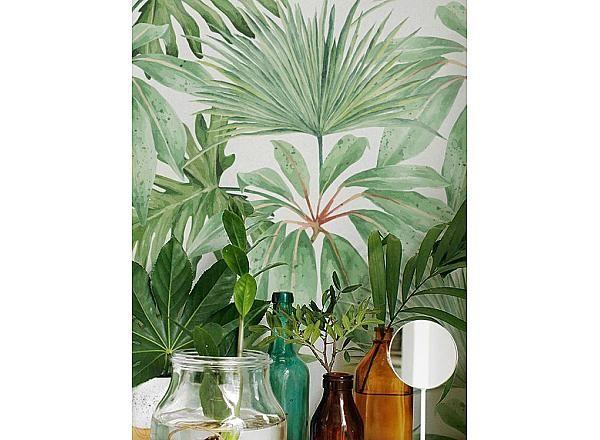 Papier peint adhésif tropical / Tropical Pattern Wallpaper ...