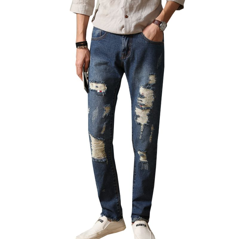>> Click to Buy << 2017 New Spring Summer Men Jeans Ripped Biker Hole Denim robin patch Distressed Harem jeans for men Pants N-ZK052 #Affiliate