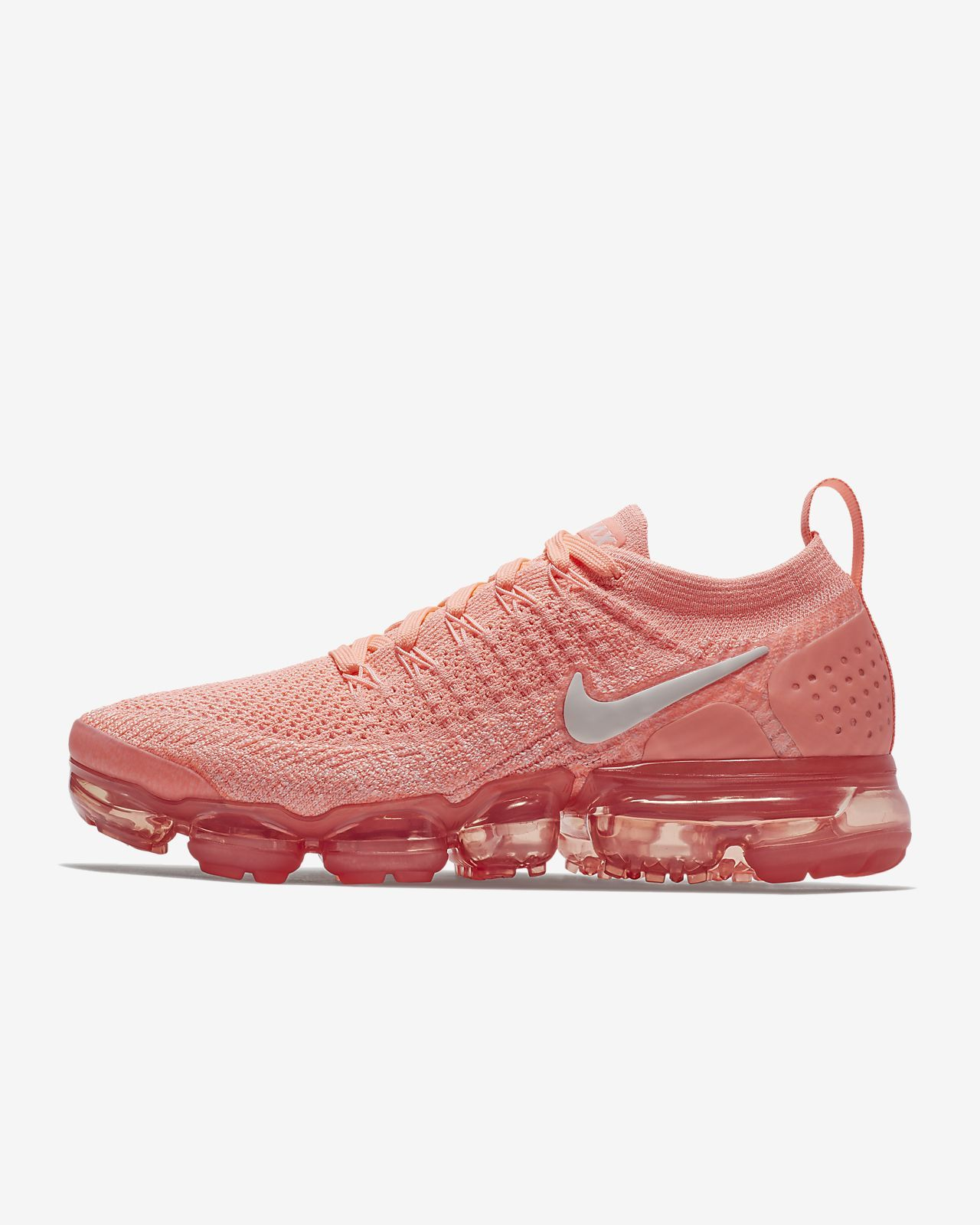 b4c61cacf10 Womens Crimson Pulse   Coral Stardust   Sail Nike Air VaporMax Flyknit 2  Running Shoe
