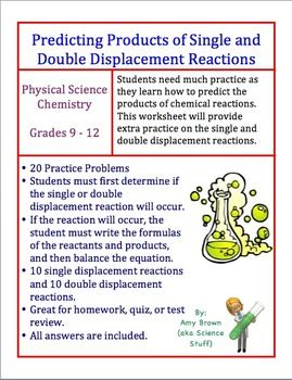 Predicting the Products of Single and Double Displacement Reactions ...