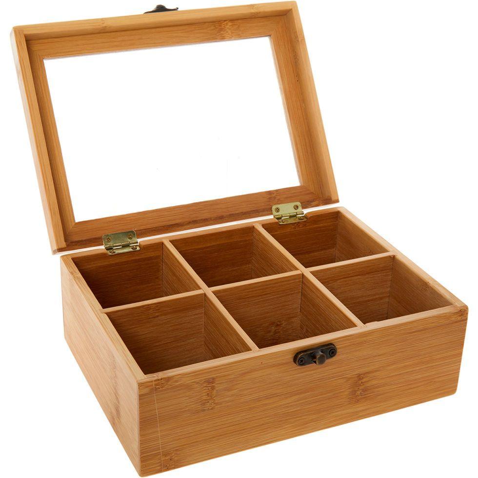 Six Space Wooden Tea Box 9x22cm Kitchen Home Tk Maxx Cool