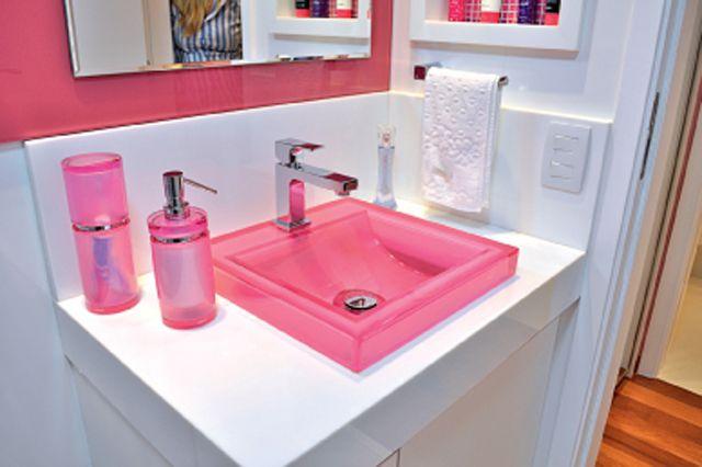 cuba acrilico colorida cozinha  Pesquisa Google  casinha  banheiros  Pint -> Cuba Banheiro Rosa
