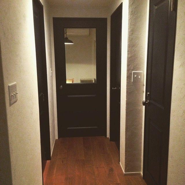 Kazu On Instagram ドアの色はネイビー系で統一してます インテリア Interior リノベーション マイホーム デザイン ヴィンテージ アンティーク ドア マイホーム ドア インテリア