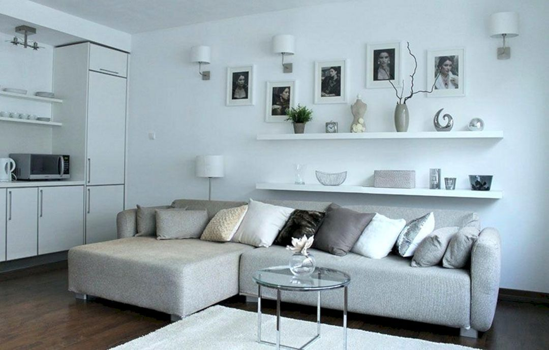 17 Best And Creative Floating Shelves Ideas For Amazing Living Room Decoration Freshouz Com Living Room Shelves Floating Shelves Living Room Above Couch Decor