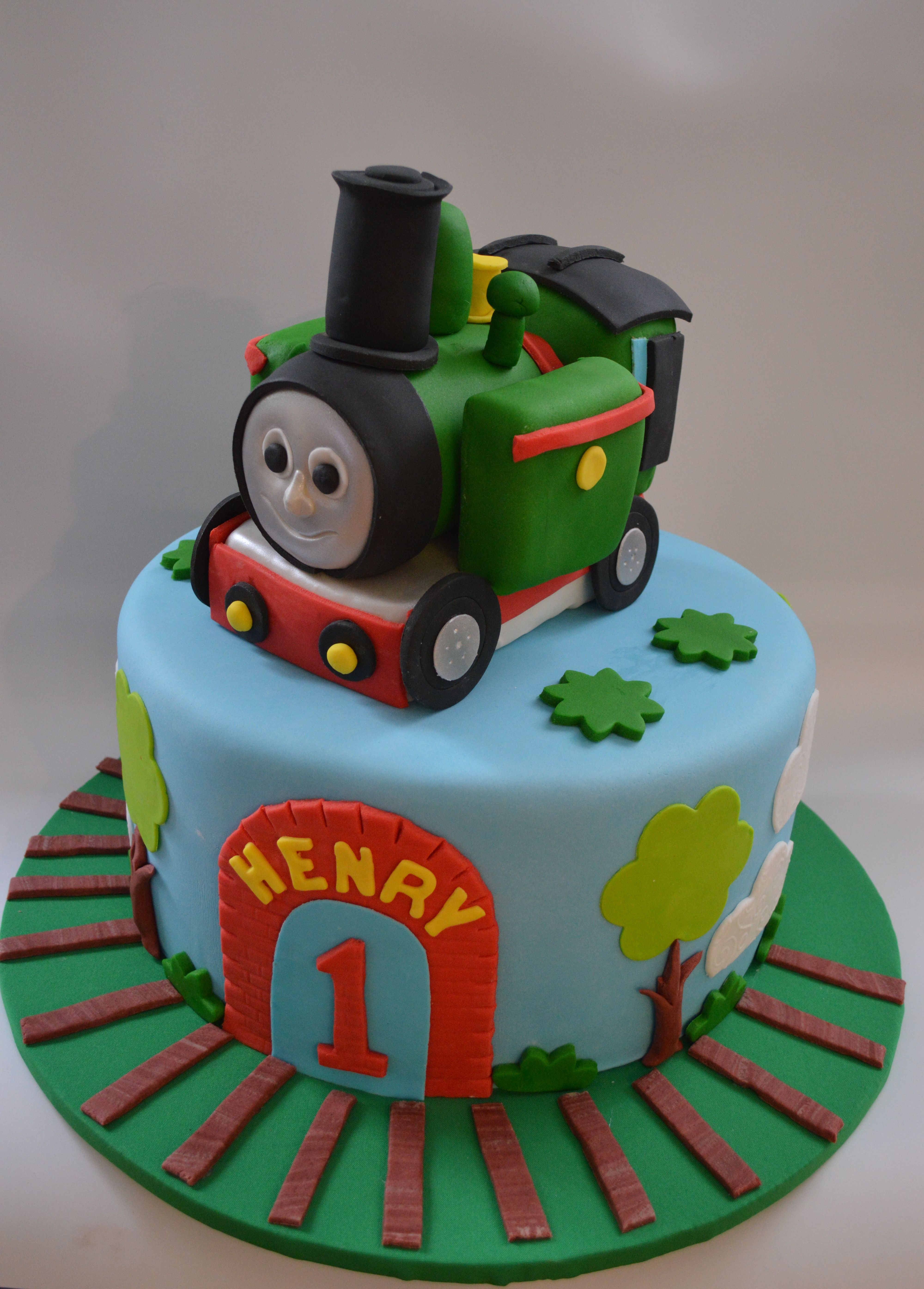 Surprising Henry Train Cake With Images First Birthday Cakes Train Cake Funny Birthday Cards Online Elaedamsfinfo