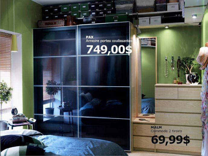 Ikea\u0027s bedroom Room ideas Pinterest Bedrooms, Ikea bedroom and - Armoire Ikea Porte Coulissante