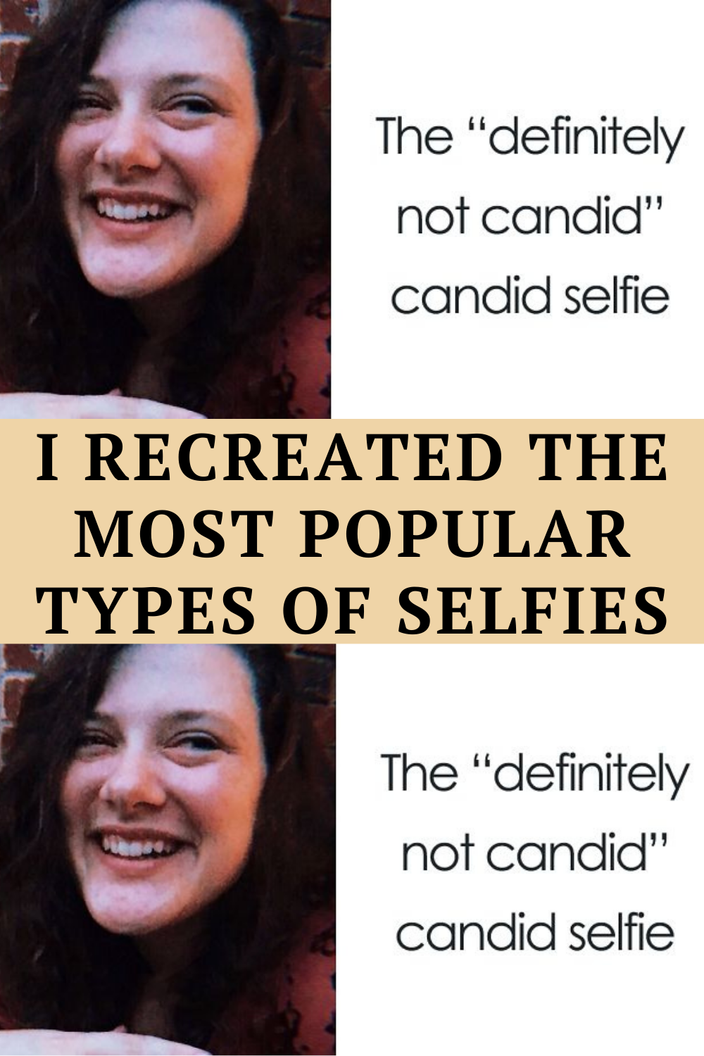Different types of selfies