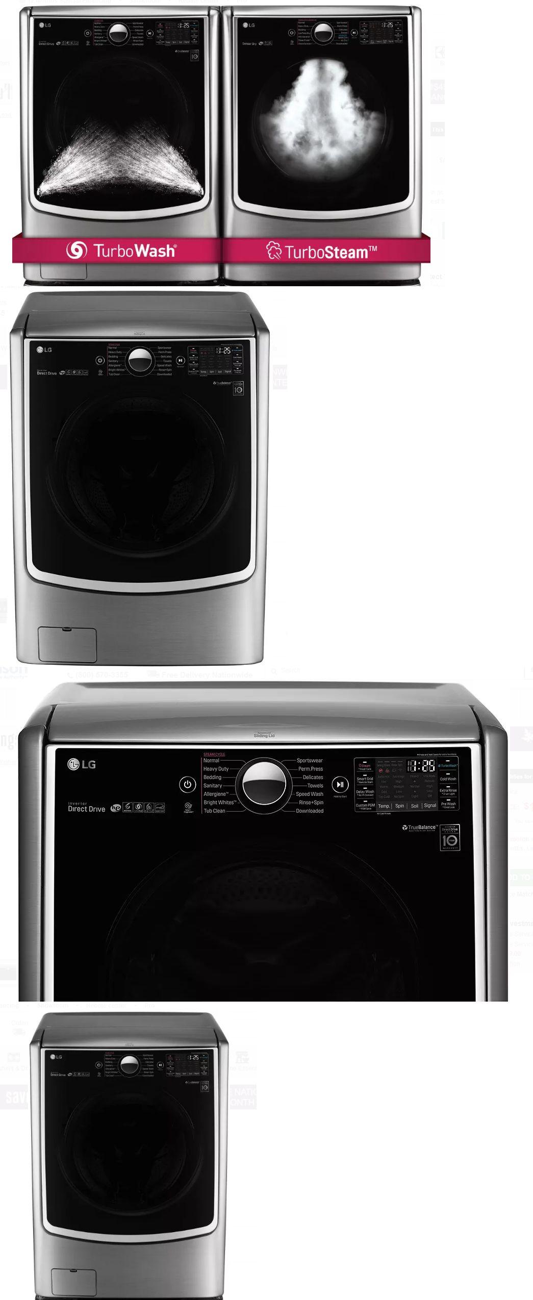 Dryers 71254 Lg Graphite Steel Wm5000hva Washing Machine Dlex5000v Dryer Laundry Bundle Buy It Now Only 1946 On Eb With Images Laundry Dryer Dryer Washing Machine