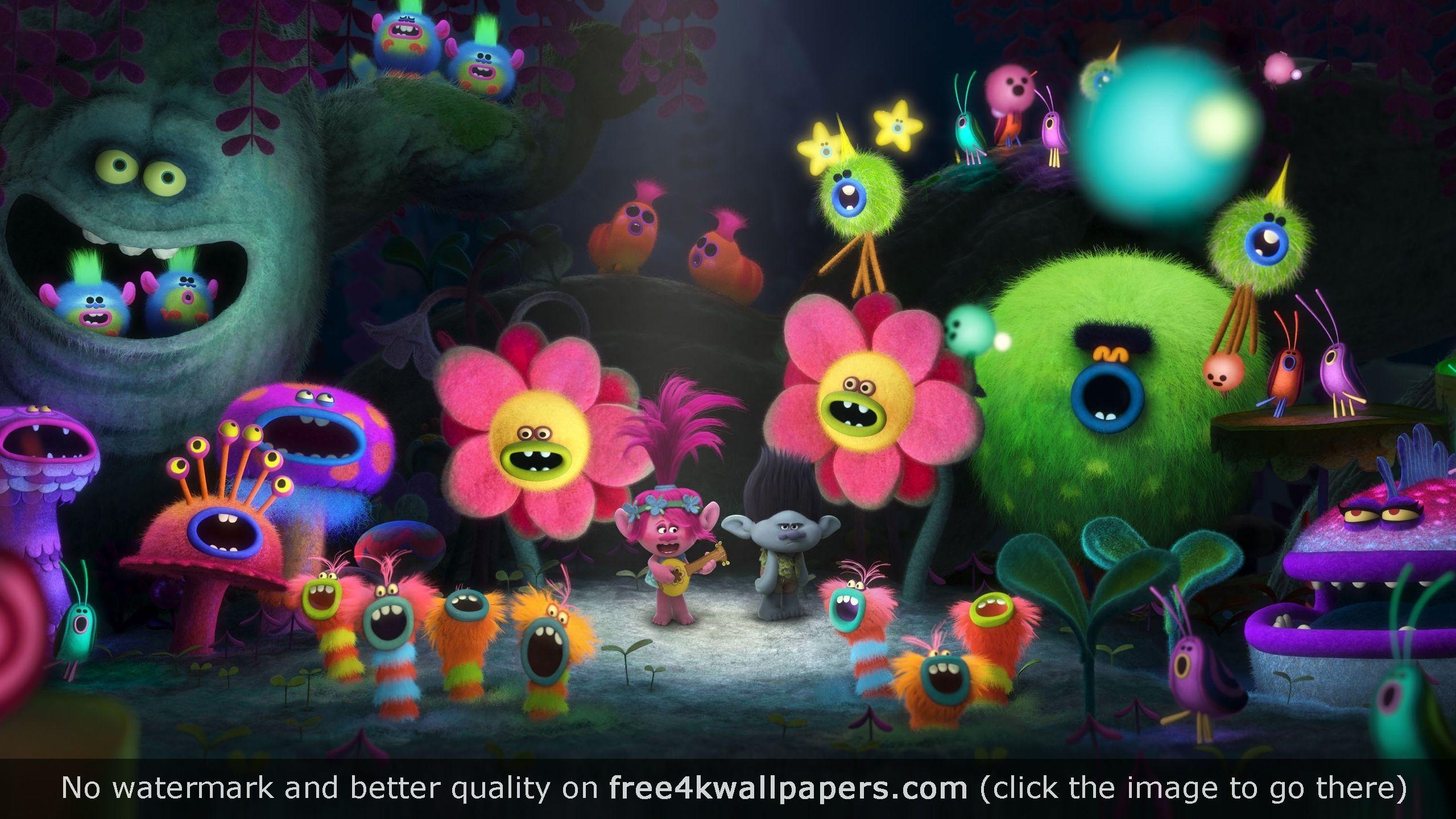 Trolls Movie Hd Wallpaper Trolls Movie Trolls Birthday Dreamworks Animation