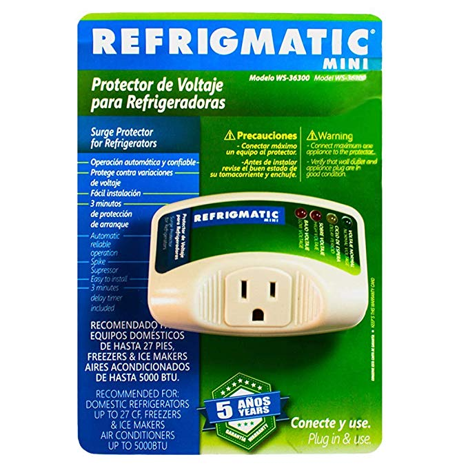 Amazon Com Refrigmatic Ws 36300 Electronic Surge Protector For Refrigerator Up To 27 Cu Ft Gateway Surge Protector Protector Electronics