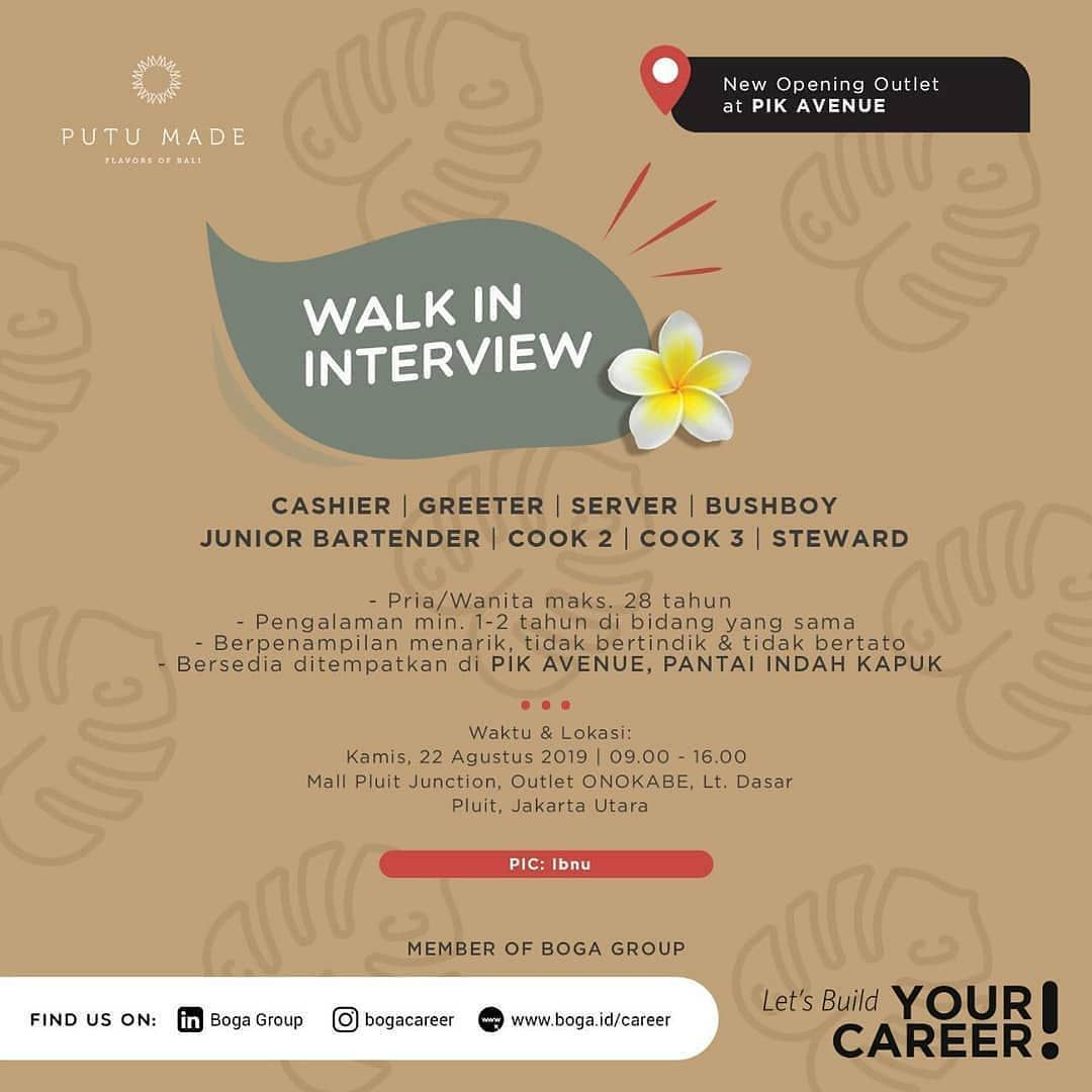 Repost Bogacareer Loker Jakarta Utara Walk In Interview For