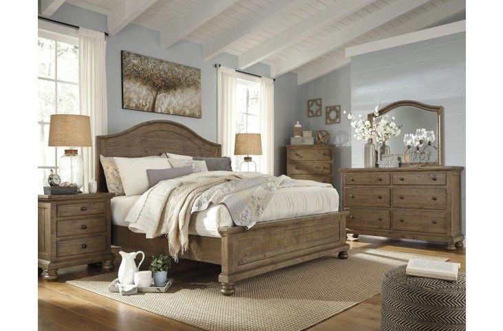 Trishley Light Brown Panel Bedroom Set From Ashley Coleman