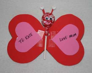 Lollipop Butterfly Craft For Valentineu0027s Day. Make A Homemade Valentine For  Someone Special With This Fun Kids Craft That Uses A Lollipop To Make A ...