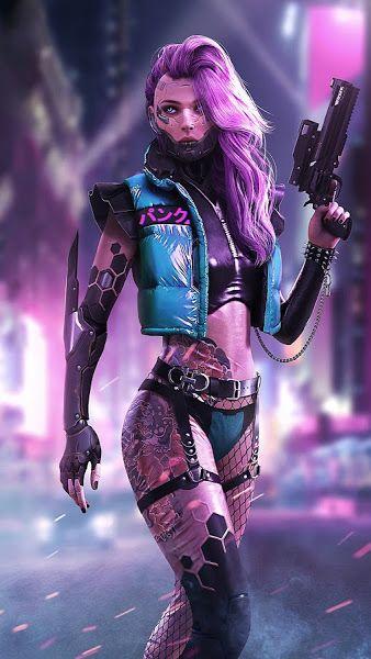 Cyberpunk Girl Sci Fi 4k 3840x2160 Wallpaper Cyberpunk Girl Cyberpunk Aesthetic Cyberpunk