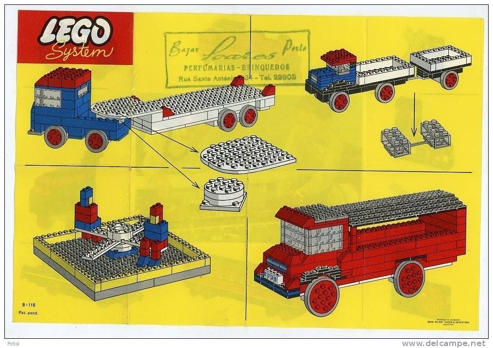 Classic page from a 1960's LEGO booklet that came with the toys ...