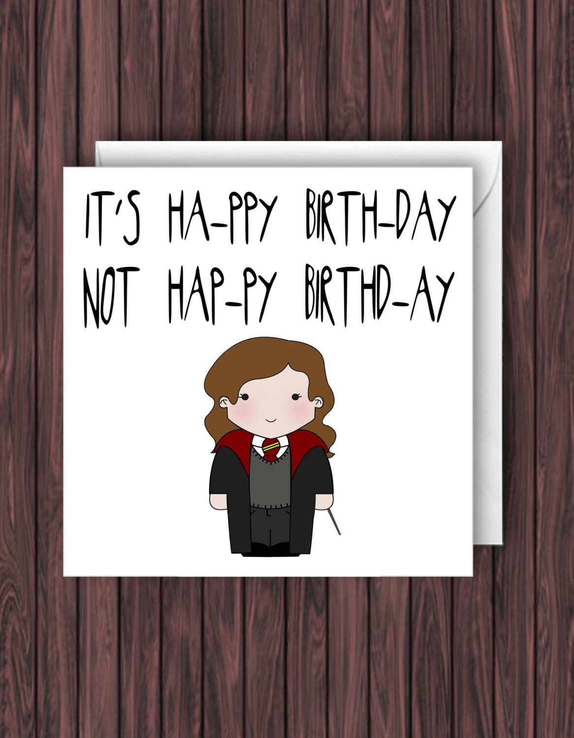 Levi o sa harry potter birthday card funny greetings card geek harry potter birthday card funny greetings card geek blank card kristyandbryce Choice Image