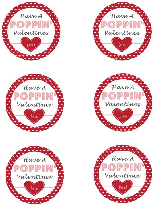 graphic about Popcorn Valentine Printable named Popcorn Pops and Valentines Working day Printables Print - Take pleasure in