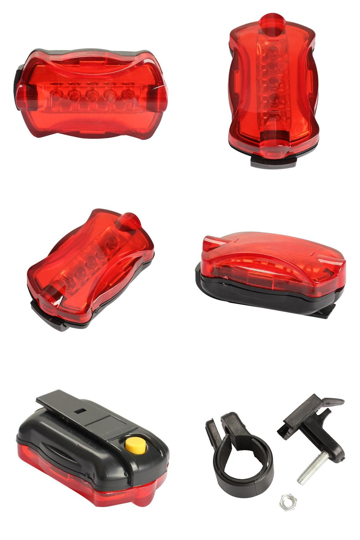 Waterproof Bright 5 LED Bike Bicycle Cycle Front and Rear Back Tail Lights  C3