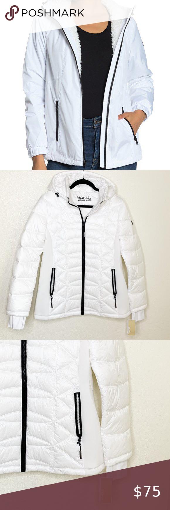 Hold Micahel Kors White Missy Puffer Jacket Line Jackets Long Hooded Coat Black Puffer Coat [ 1740 x 580 Pixel ]