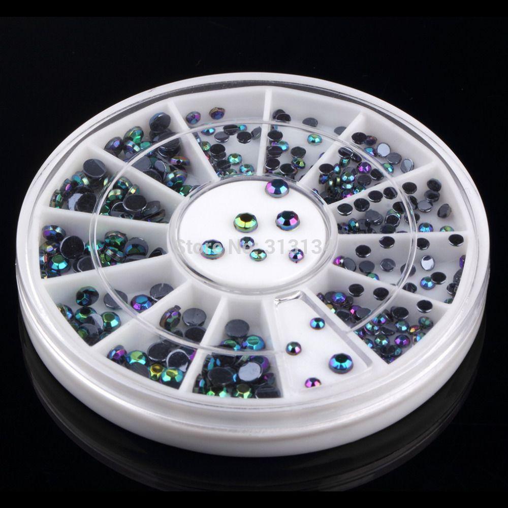 300 teile/satz 3D charme Nail art Tipps Rad Edelsteine Kristall Glitter Strass Maniküre Nail art Dekoration nagel Zubehör werkzeuge