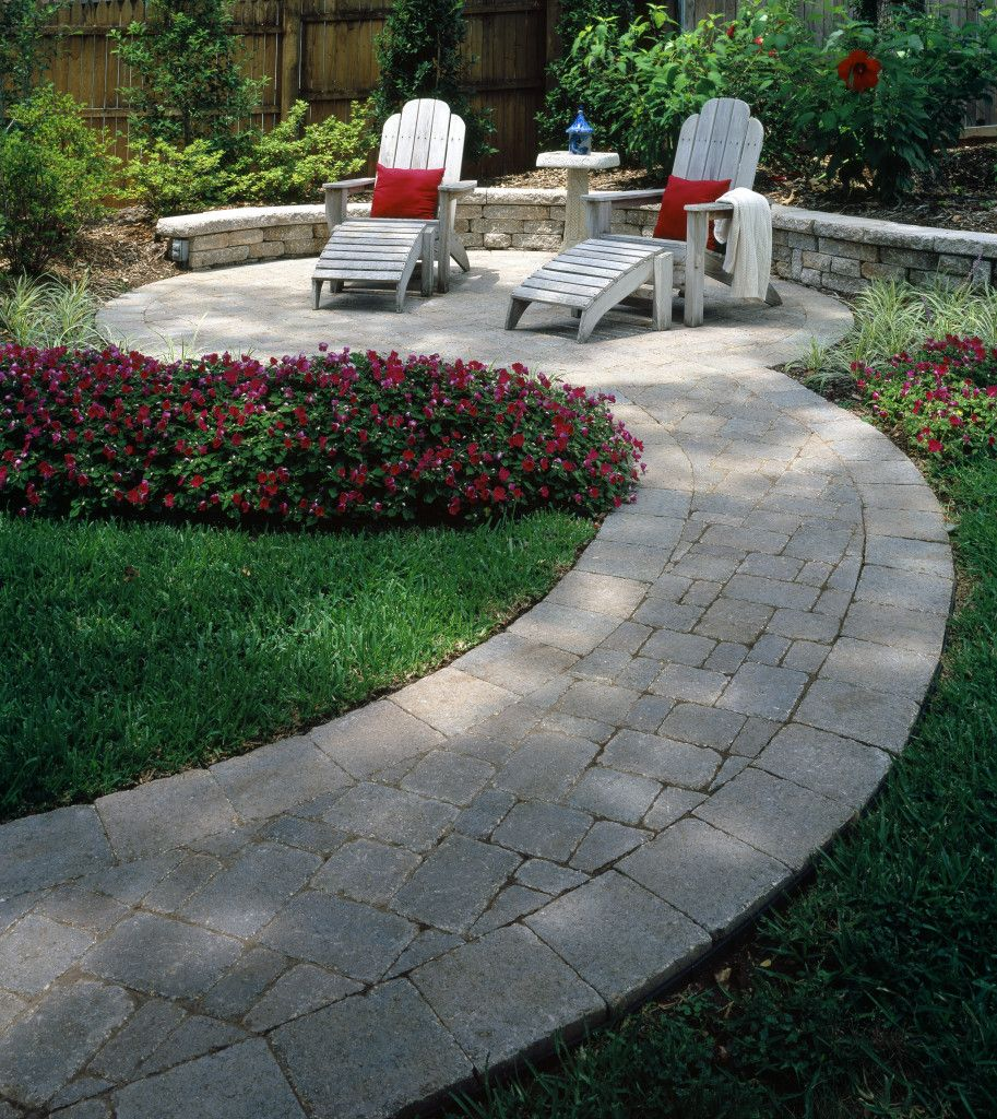 Belgard Paver Walkway And Retaining Wall » SBI Materials